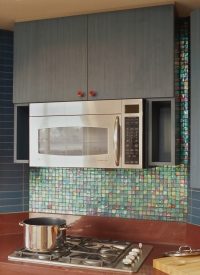 Tourmaline Iridescent Kitchen Splash Back