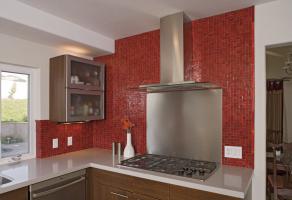 Tessara mosaic - Red non iridescent 25x25mm