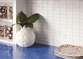 Tessara mosaic - White non iridescent 25x50mm