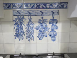 Vegetable panel 3H x 4W with Flores Grande border