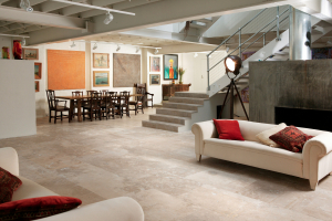 Noce travertine floor
