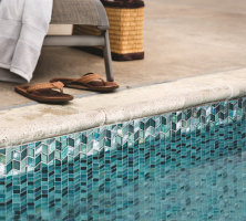 Perspectives pool waterline tiles