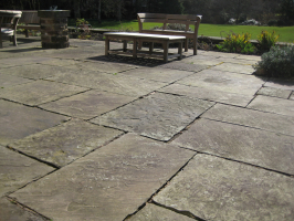 Reclaimed English flagstones