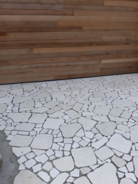 Botticino large and small format crazy paving