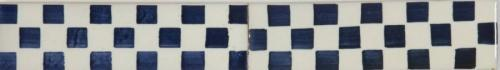 Blue & White Checkerboard 140x40mm