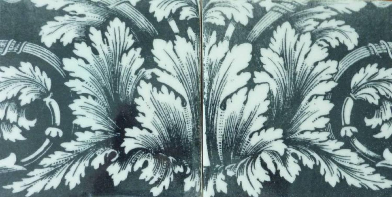 Monochrome Leaf Panel 2 tile 150x150mm