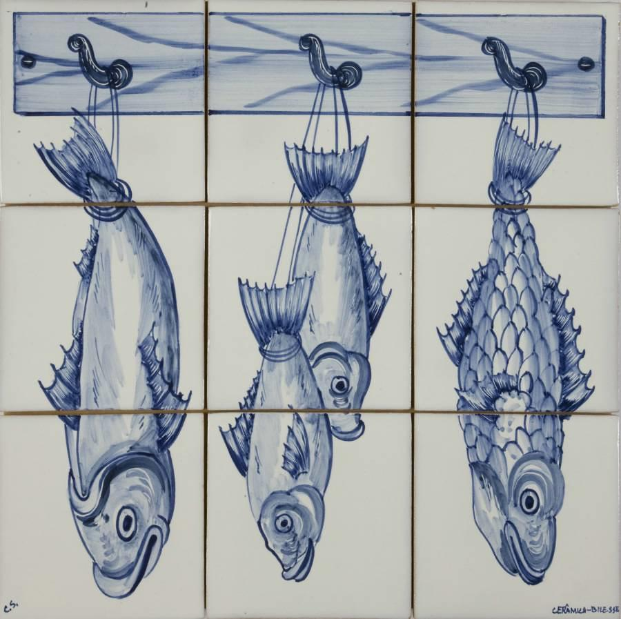 Fish Panel Blue 3Hx3W