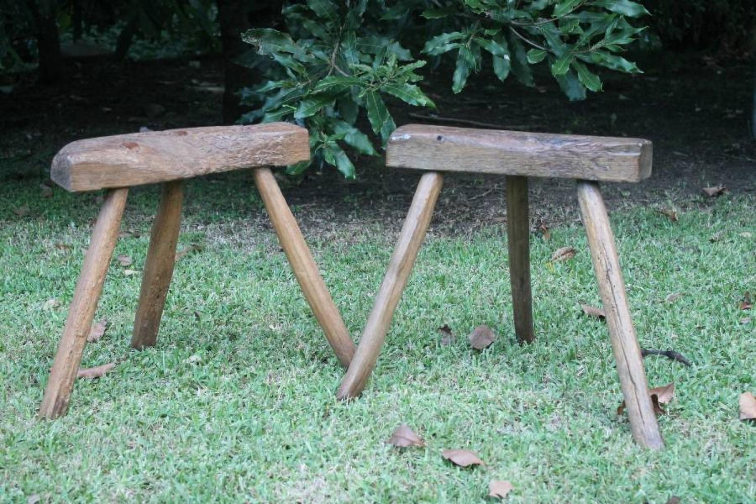French Rustic Milking Stool