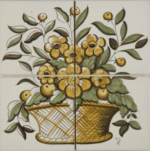 Flower Basket Polychrome  2Hx2W