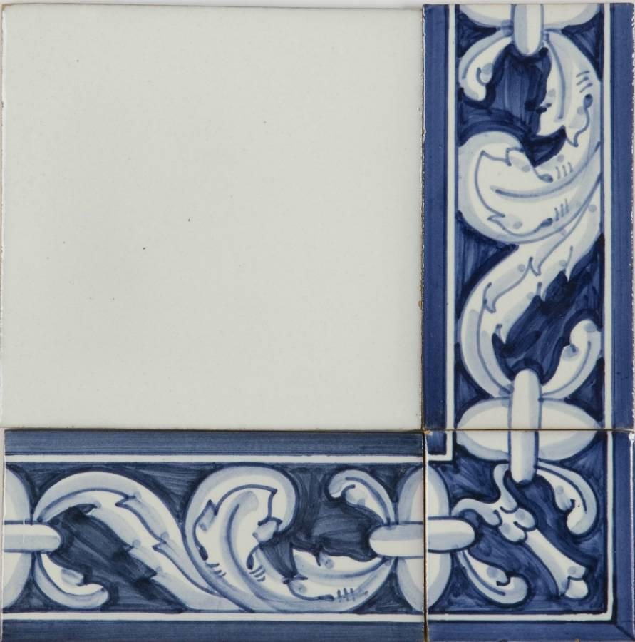Flores Grande Border 2 tile pattern 140x70mm