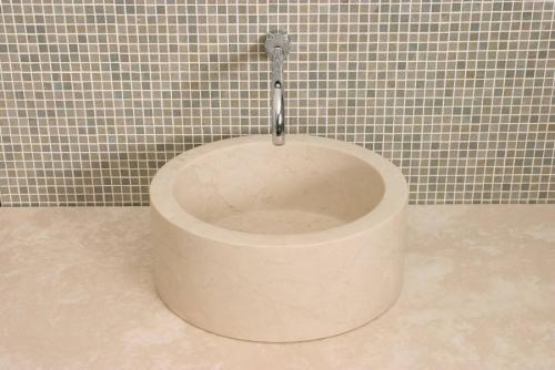 Cylindrical Botticino Sink 380mm