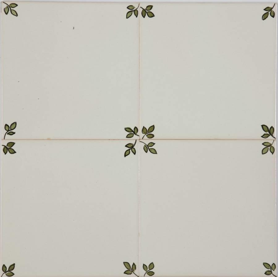Garden Blanc Green Corners 140x140mm