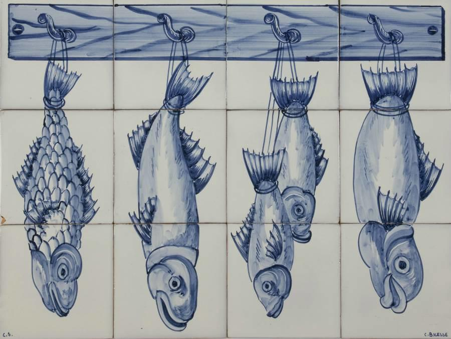 Fish Panel Blue 3Hx4W