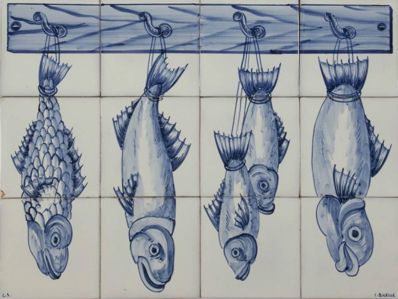 Fish Panel Blue 3Hx4W