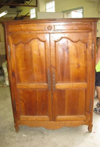 French Cherrywood Amoire Bassette