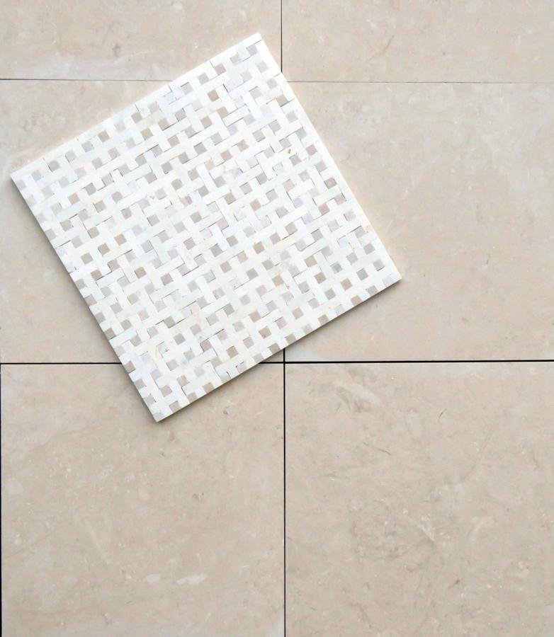 Basketweave White/Oatmeal