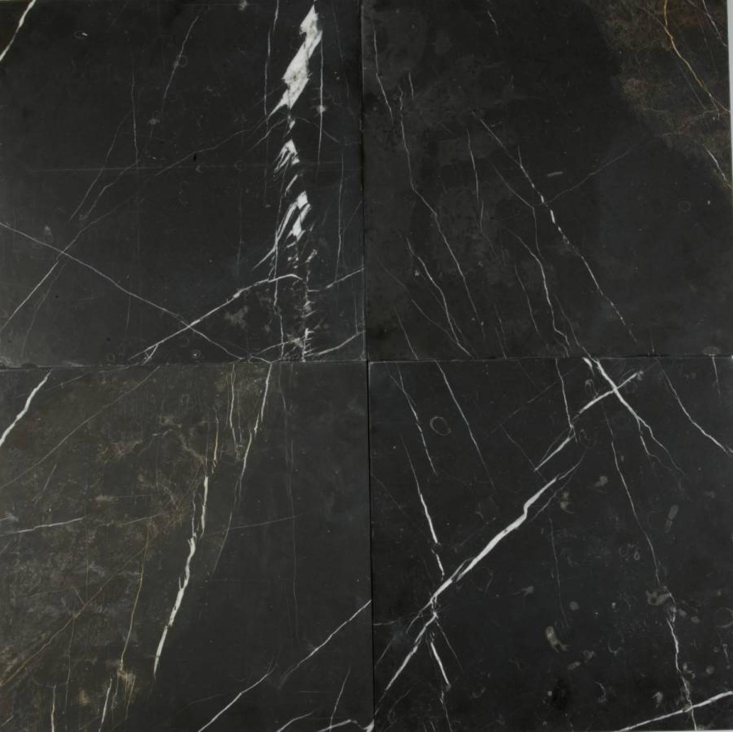 Black marble honed & bevilled