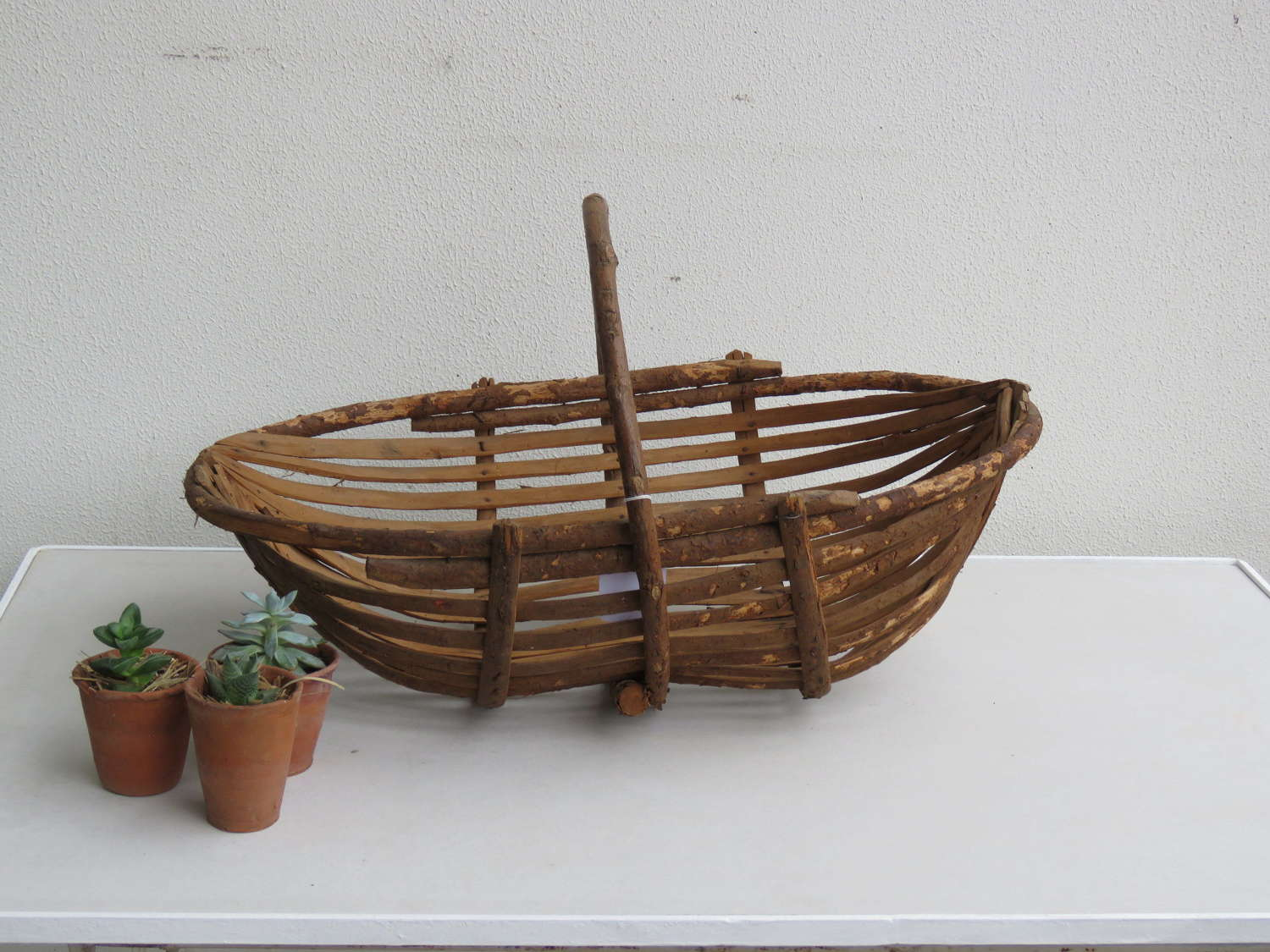 French Oyster Stick Basket, 19th C