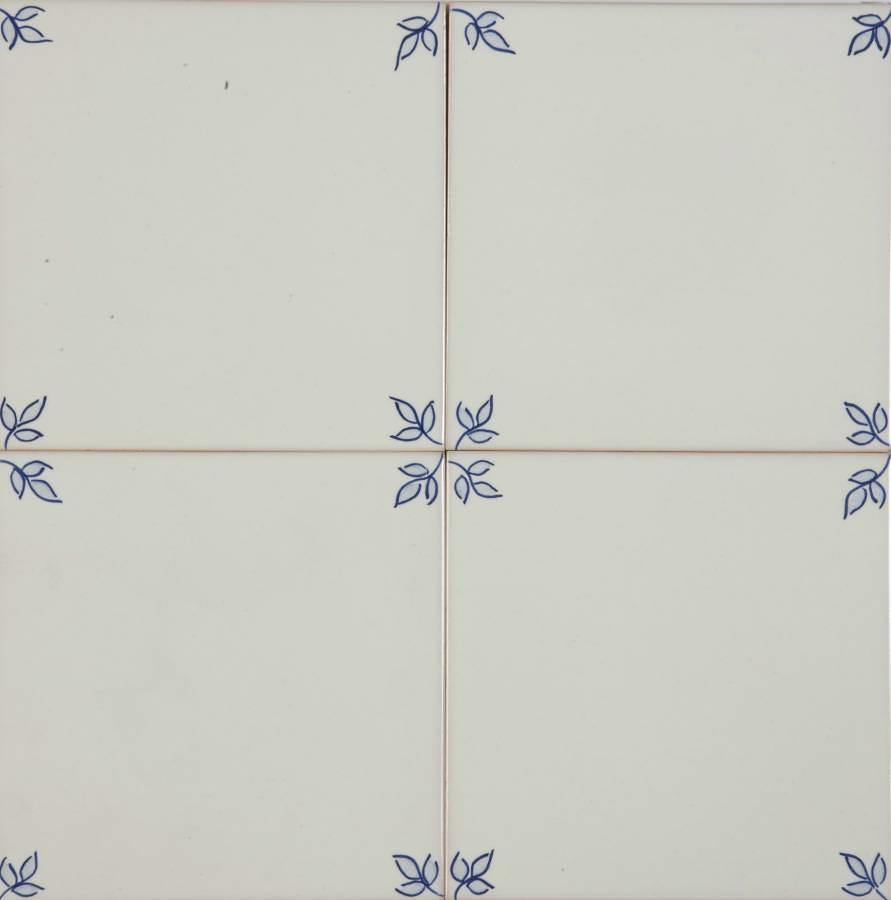 Garden Blanc Blue Corners 140x140mm