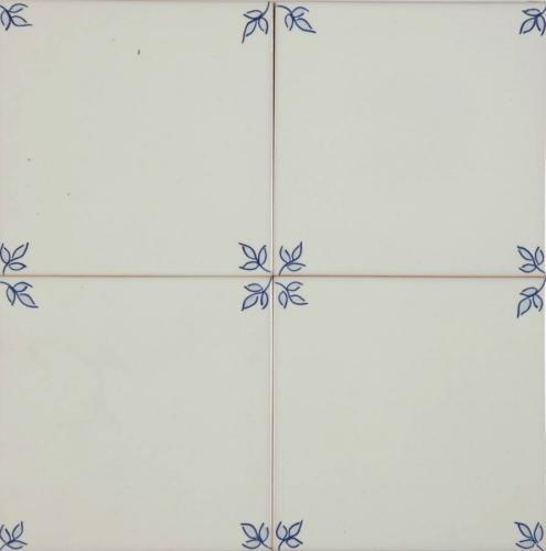 Garden Blanc Blue Corners 140x140mm