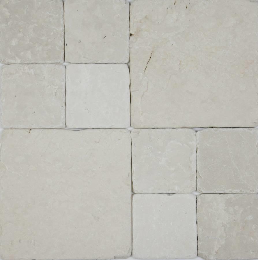 Botticino tumbled marble cobblestones