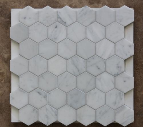 Bianca Carrara Hexagon Mosaic