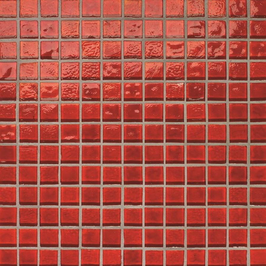 Muse Red Non Iridescent Mosaic 308x308mm