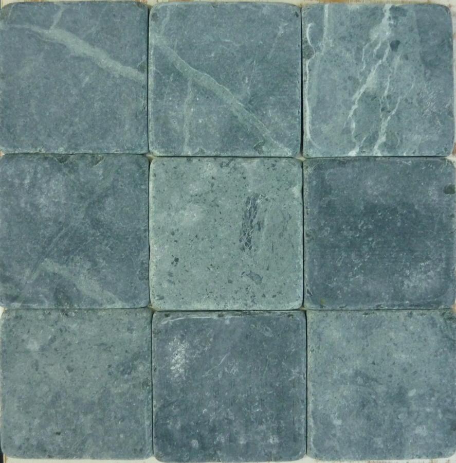 Verde tumbled marble cobblestones