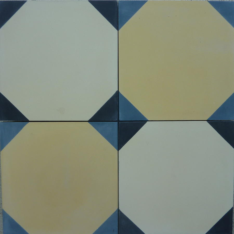 Milk & Cream Octagon 2 Tile Pattern