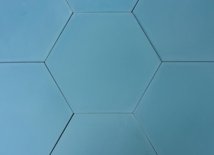 Light Oasis Blue Hexagon