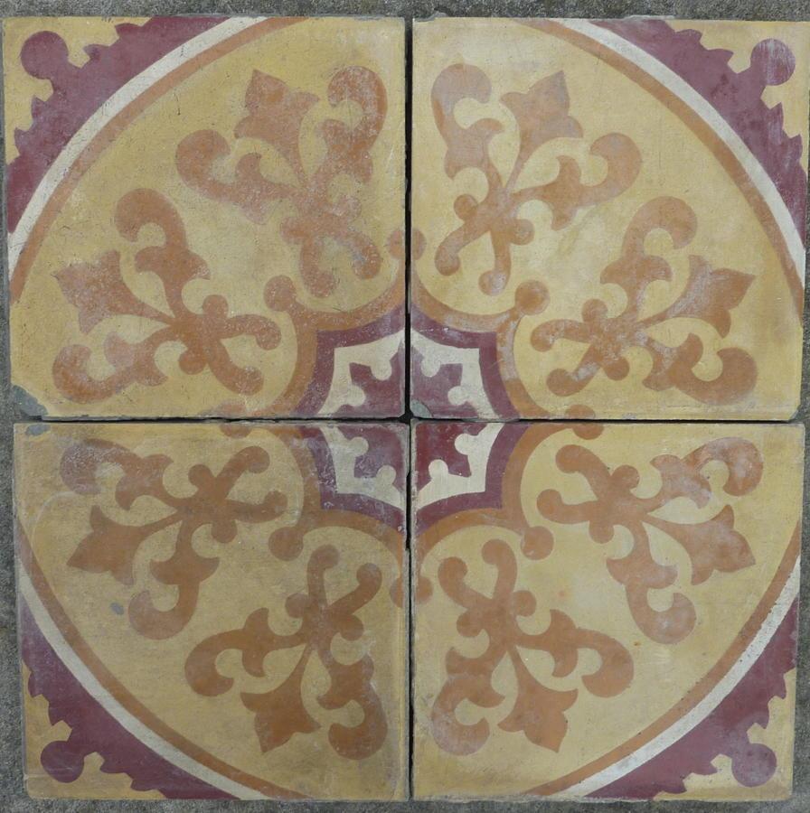 Etruscan Reclaimed Encaustic Tile