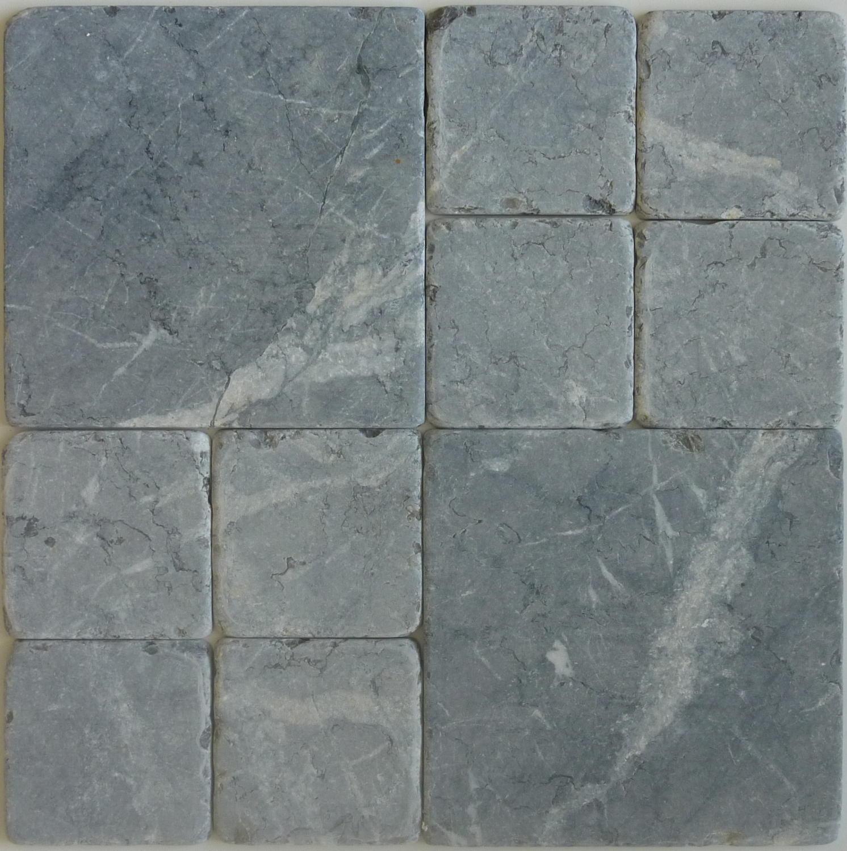 Grigio Carnico tumbled marble cobblestones