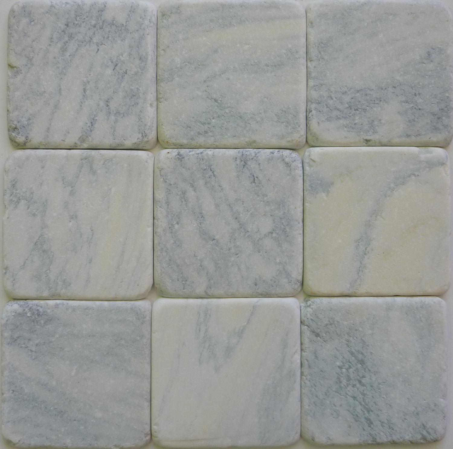 Blue Cheese tumbled marble cobblestones