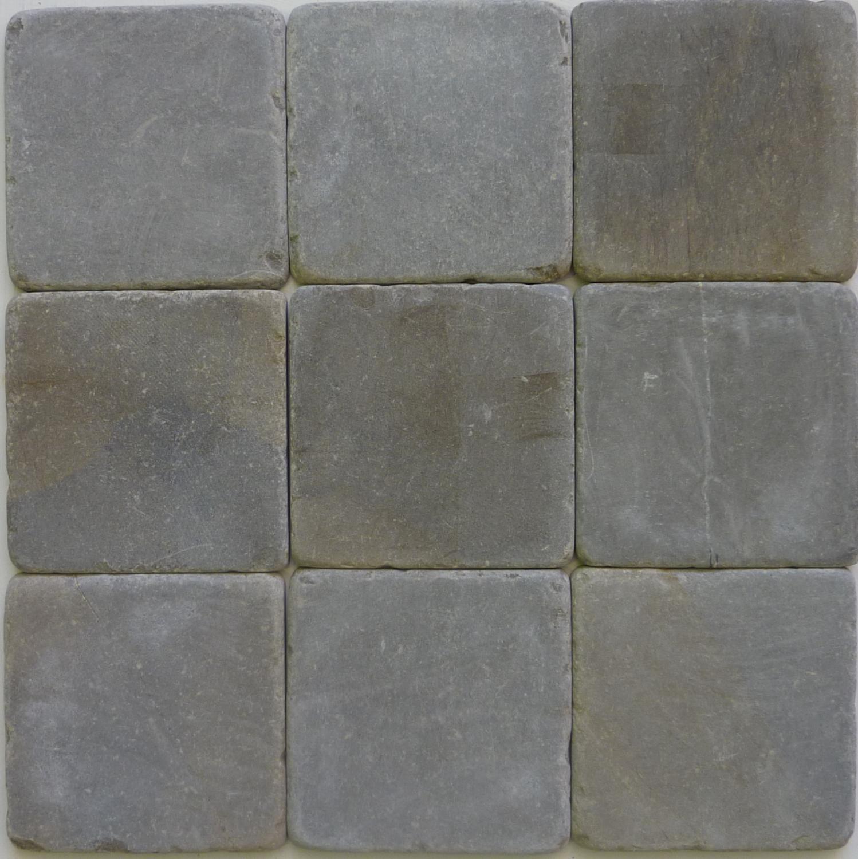 Tunis Grigio tumbled marble cobblestones