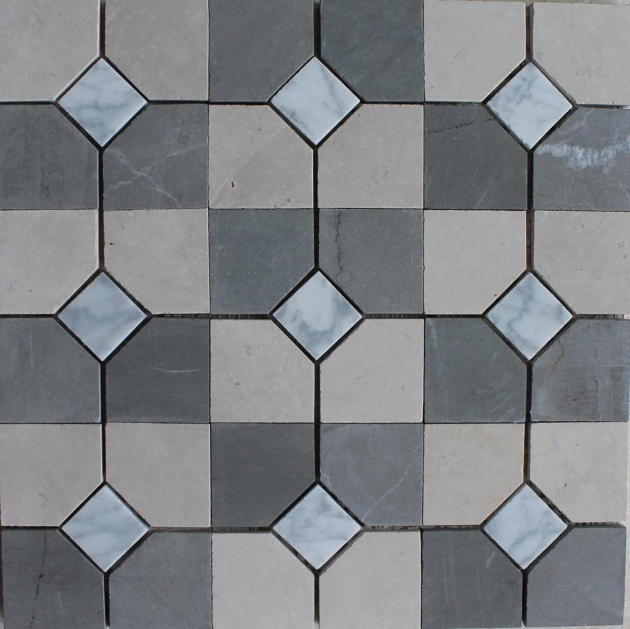Cabochon Oatmeal/Charcol mosaic