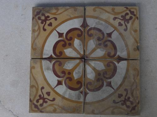 Yellow Compass Reclaimed Encaustic Tile