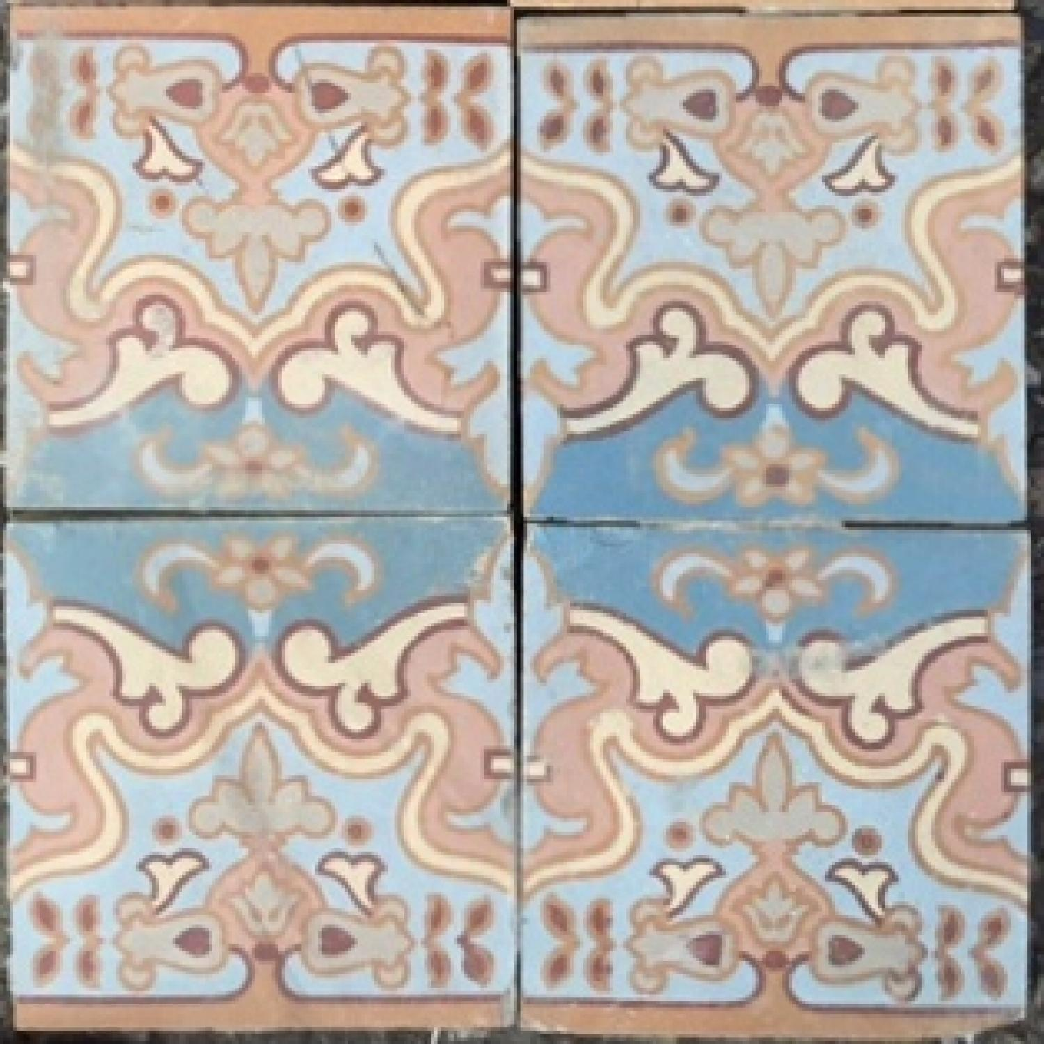 Chintz Reclaimed Encaustic Tile