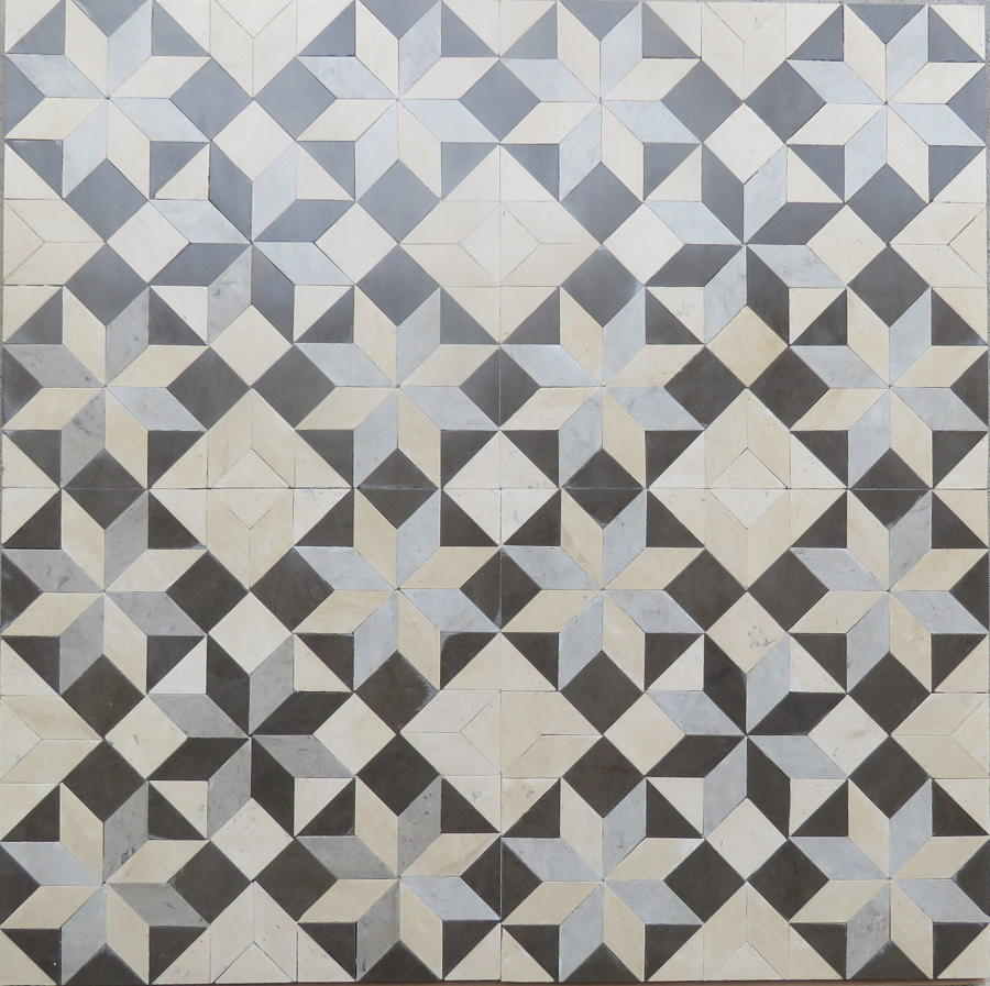 Grey Flowers mosaic