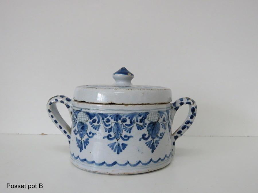 Delft posset pot 18th C