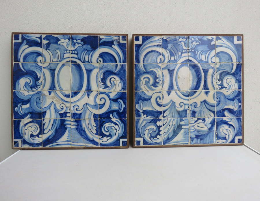 Antique Portuguese hand painted panels