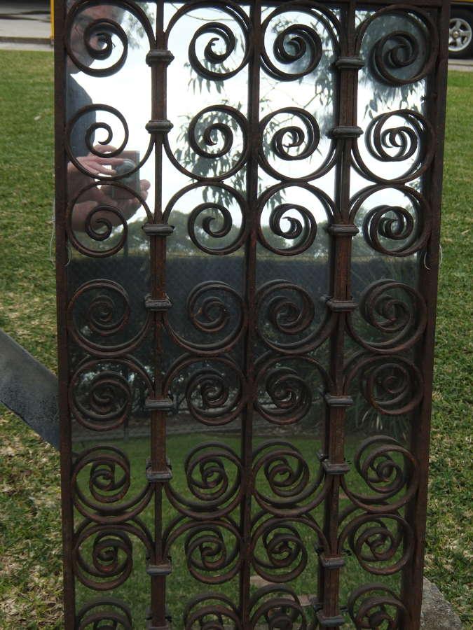 Cast iron mirrored window frame