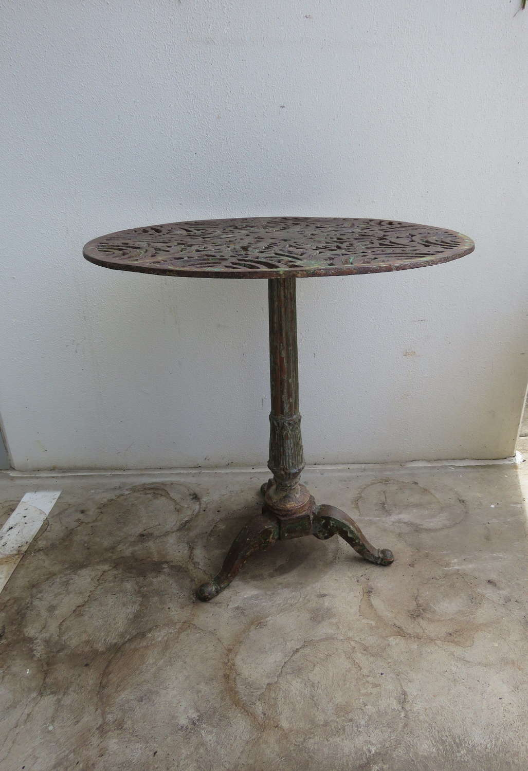 French cast iron Gueridon table