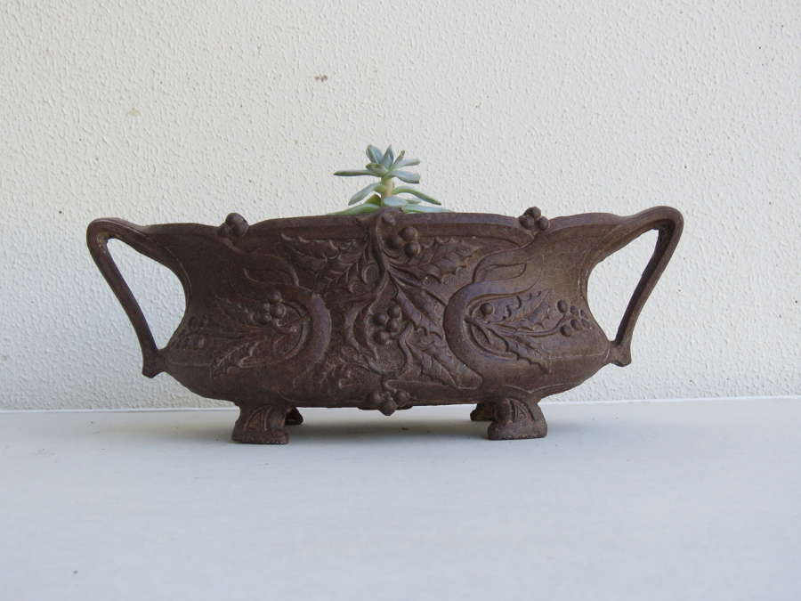 Small cast iron garden planter