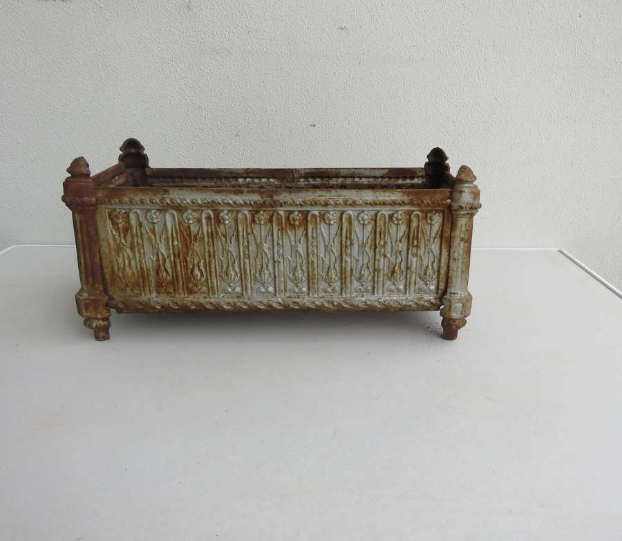 French rectangular iron planter