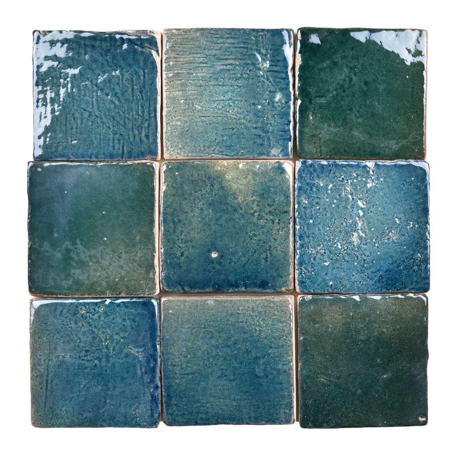Jungle glazed terracotta