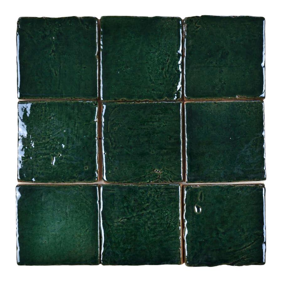 Forest glazed terracotta